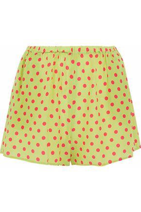 REDValentino Polka-dot silk crepe de chine shorts