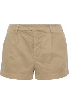 REDValentino Pleated stretch-cotton twill shorts