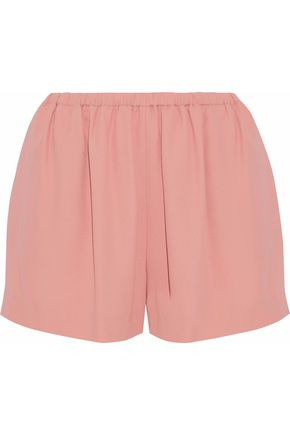 WOMAN GATHERED CREPE SHORTS ANTIQUE ROSE
