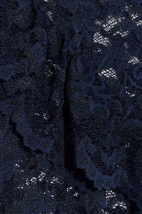GANNI Flynn ruffle-trimmed lace top