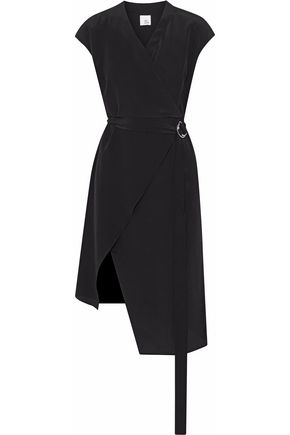 IRIS & INK Kim wrap-effect belted silk crepe de chine dress
