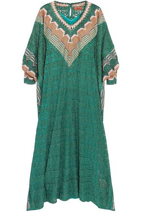 MISSONI Metallic crochet-knit kaftan