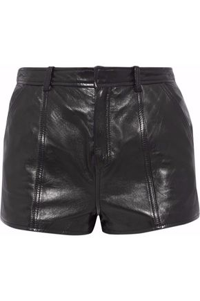 REDValentino Lace-up leather shorts