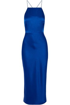 Open Back Satin Midi Dress by Jason Wu