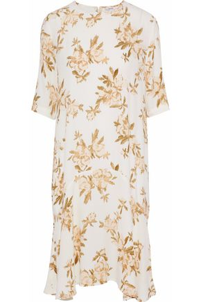 GANNI St. Pierre printed crepe de chine dress