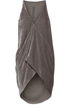 RICK OWENS Asymmetric velvet top