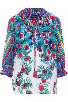 SALONI Ali printed silk crepe de chine blouse