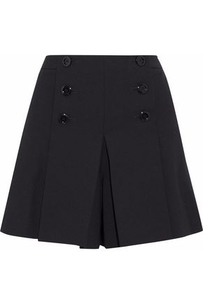 REDValentino Pleated cady shorts