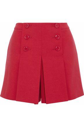 REDValentino Pleated crepe shorts