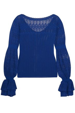 OSCAR DE LA RENTA Pointelle-knit top