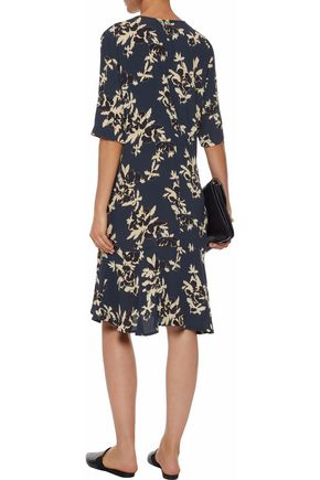 GANNI Floral-print crepe dress