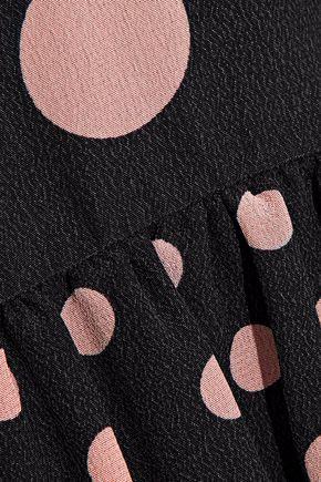 REDValentino Polka-dot silk crepe de chine mini dress