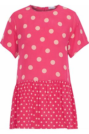REDValentino Polka-dot silk crepe de chine mini dress