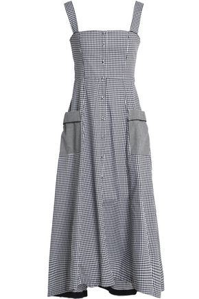 NICHOLAS Gingham cotton midi dress
