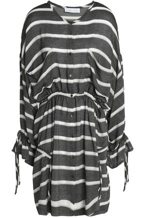 IRO Striped woven mini dress