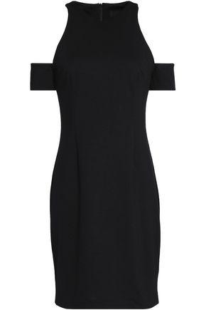 NICHOLAS Cold-shoulder stretch-ponte mini dress