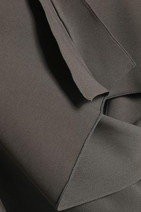 ROLAND MOURET Off-the-shoulder draped crepe top