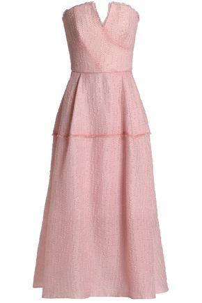ROLAND MOURET Strapless cloqué gown