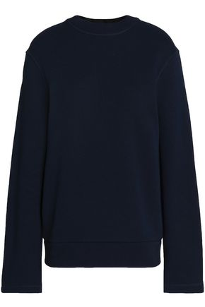 JOSEPH Tie-back French cotton-terry sweatshirt