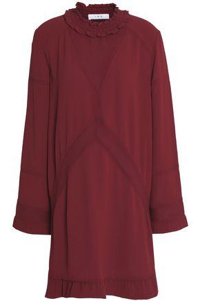 IRO Ruffle-trimmed crepe mini dress