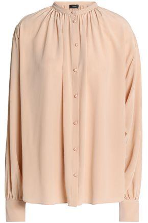 JOSEPH Gathered silk crepe de chine blouse