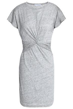 IRO Twist-front cotton and modal-blend jersey mini dress