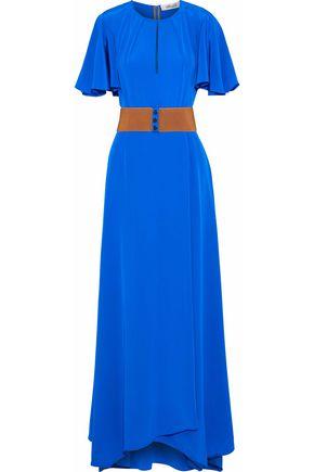 DIANE VON FURSTENBERG Belted cutout silk maxi dress
