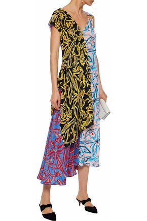 574178dcc07a52 DIANE VON FURSTENBERG Asymmetric layered printed silk midi dress
