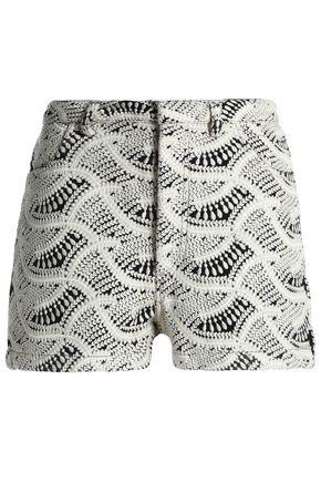 IRO Embroidered gauze shorts