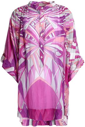 EMILIO PUCCI Printed cotton and silk-blend top
