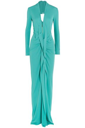 ROLAND MOURET Compeyson open-back draped jersey gown