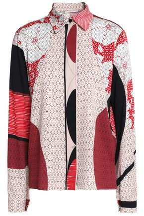 EMILIO PUCCI Printed silk-blend shirt