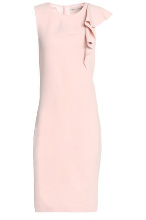 EMILIO PUCCI Ruffle-trimmed stretch-wool crepe dress