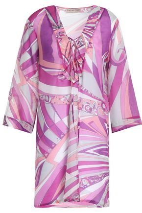 EMILIO PUCCI Printed cotton and silk-blend mini dress