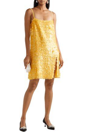 50713656d5aa MIU MIU Sequined silk-chiffon slip dress