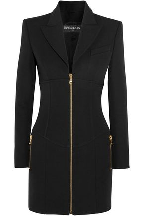 BALMAIN Wool-crepe mini dress
