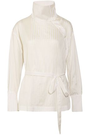 STELLA McCARTNEY Caterina cotton and silk-blend jacquard blouse