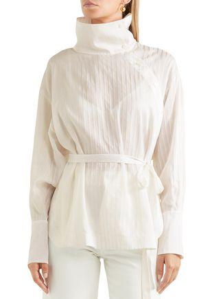 STELLA McCARTNEY Caterina cotton and silk-blend jacquard blouse