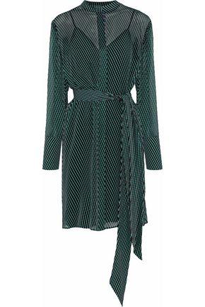 DIANE VON FURSTENBERG Striped silk-chiffon shirt dress
