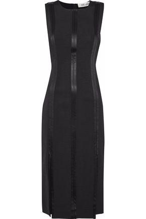 DIANE VON FURSTENBERG Satin-trimmed faille dress
