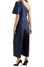 STELLA McCARTNEY One-shoulder cropped satin-crepe jumpsuit