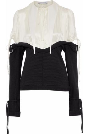 J.W.ANDERSON Two-tone silk and wool top