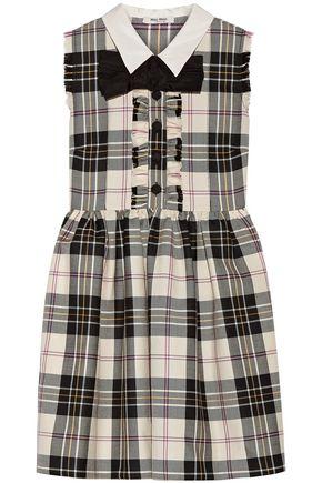 MIU MIU Checked wool mini dress
