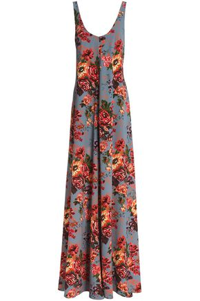 EMILIA WICKSTEAD Floral-print georgette maxi dress