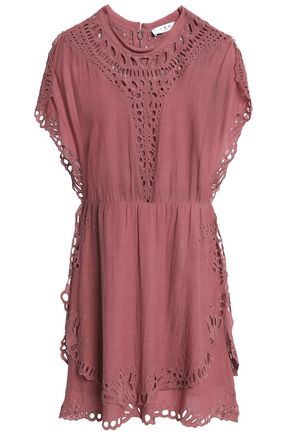 IRO Broderie anglaise jersey mini dress