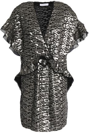 IRO Sequined georgette mini dress