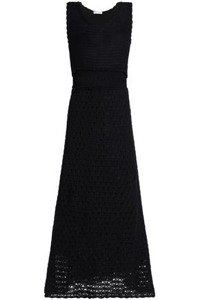 REDValentino Cotton crochete maxi dress
