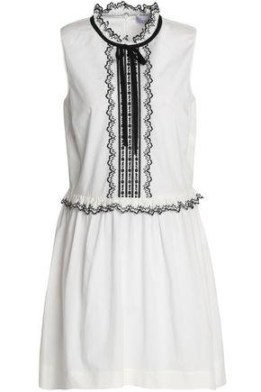 REDValentino Embroidered cotton-poplin mini dress