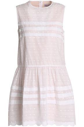 REDValentino Scalloped fil coupé cotton mini dress