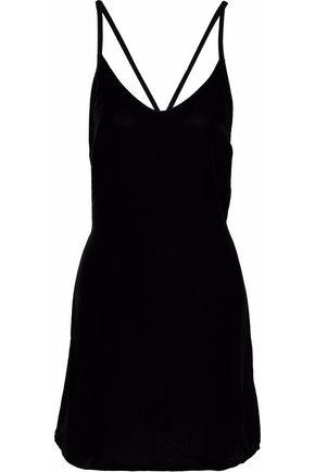 3x1 Velvet mini dress